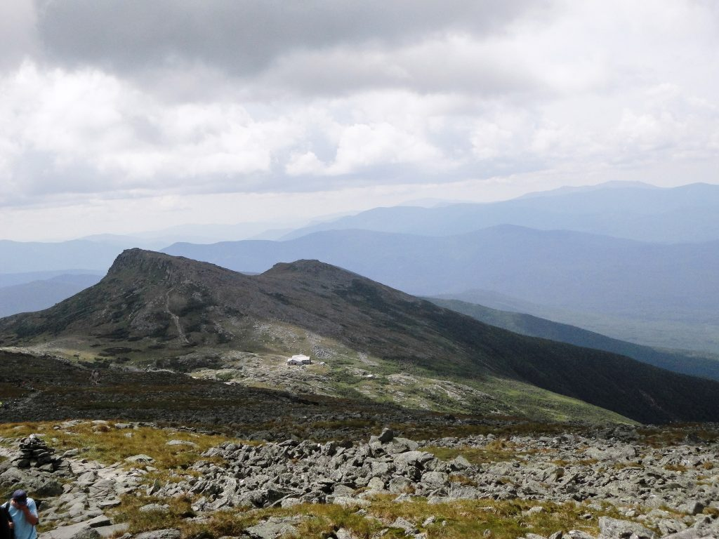 Lakes of the Clouds Hut as seen from Mount Washington's summit come. [Credit: Ryan Wichelns]