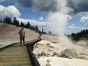 On the boardwalk at Bumpass Hell.
