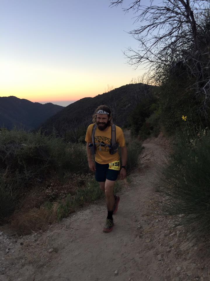 The author putting the Reactik+ to the test during a 100 mile run.