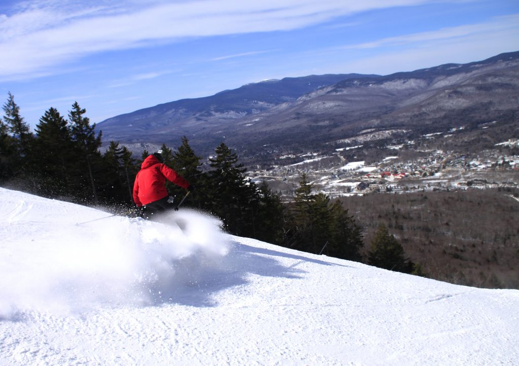 Get a great view of the town below from Ripsaw. | Courtesy: Loon Mountain