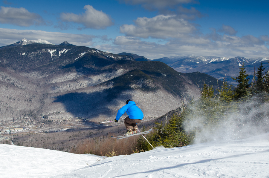 Getting some air on Upper Flume.   Courtesy: Loon Mountain