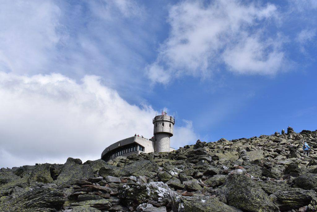Climbing towards the top of Mount Washington.   Credit: Tim Peck