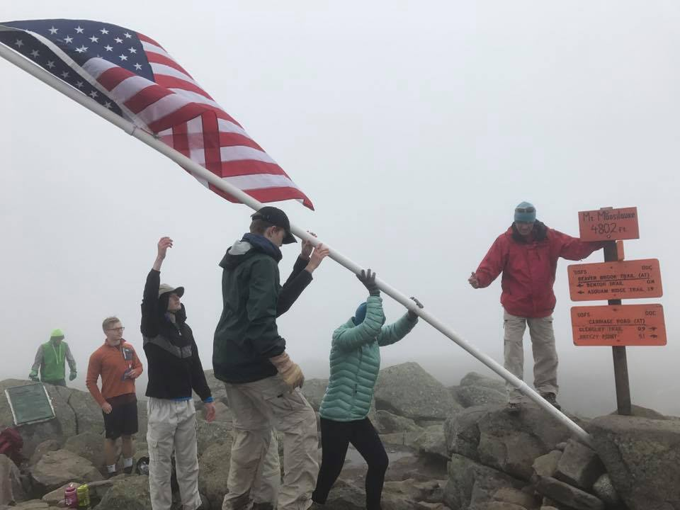 The fly going up on Mount Moosilauke. | Courtesy: Jon Thyng/Flags on the 48