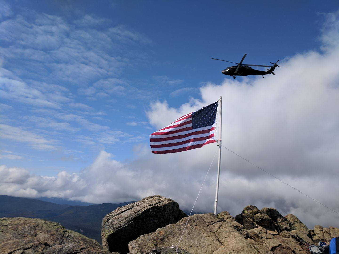 Many of this year's flag flyings were met with a military flyby. | Courtesy: Stephanie Howes/Flags on the 48