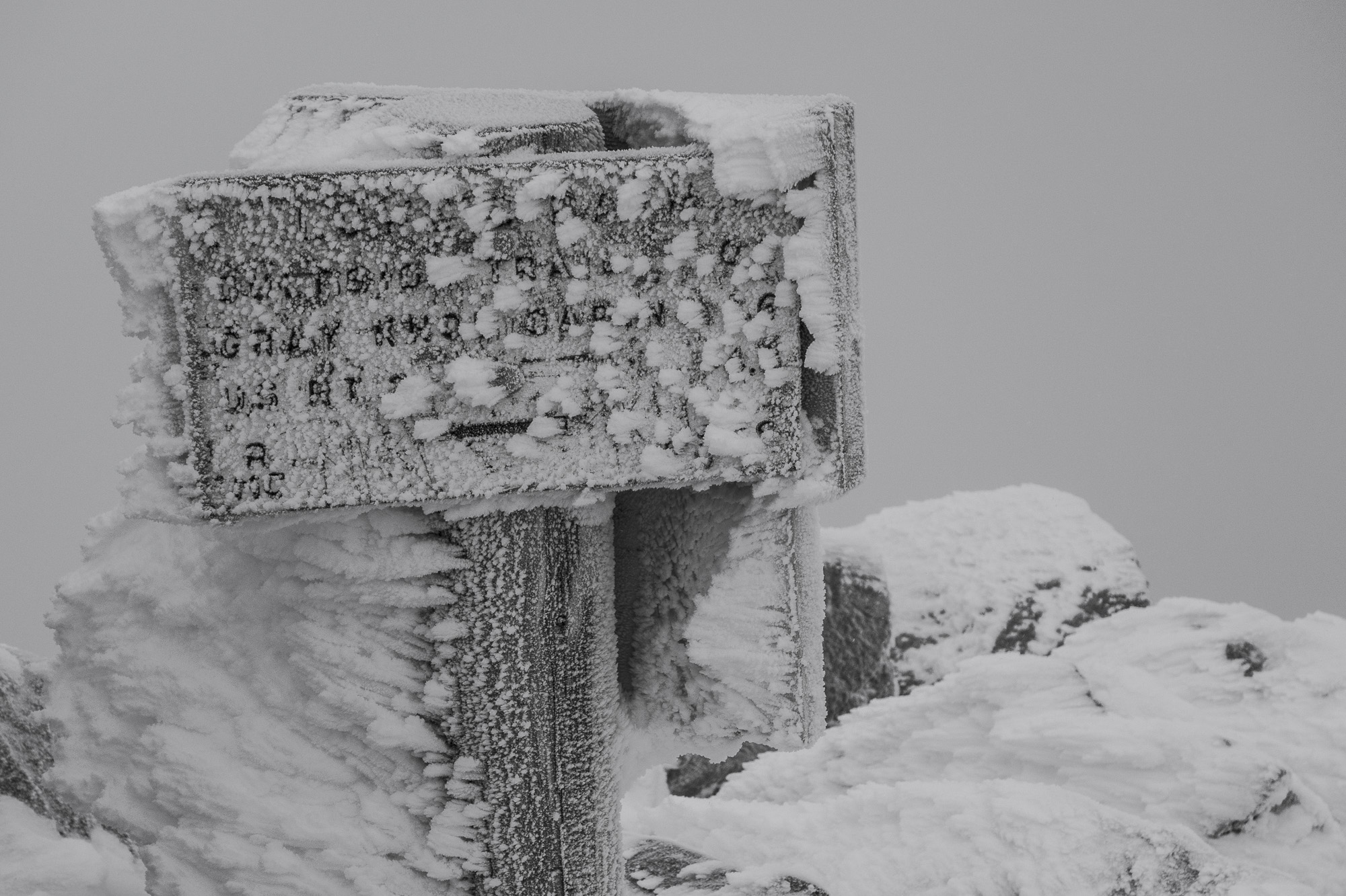 Trail signs on the top of Mount Adams. | Credit: Ryan Wichelns