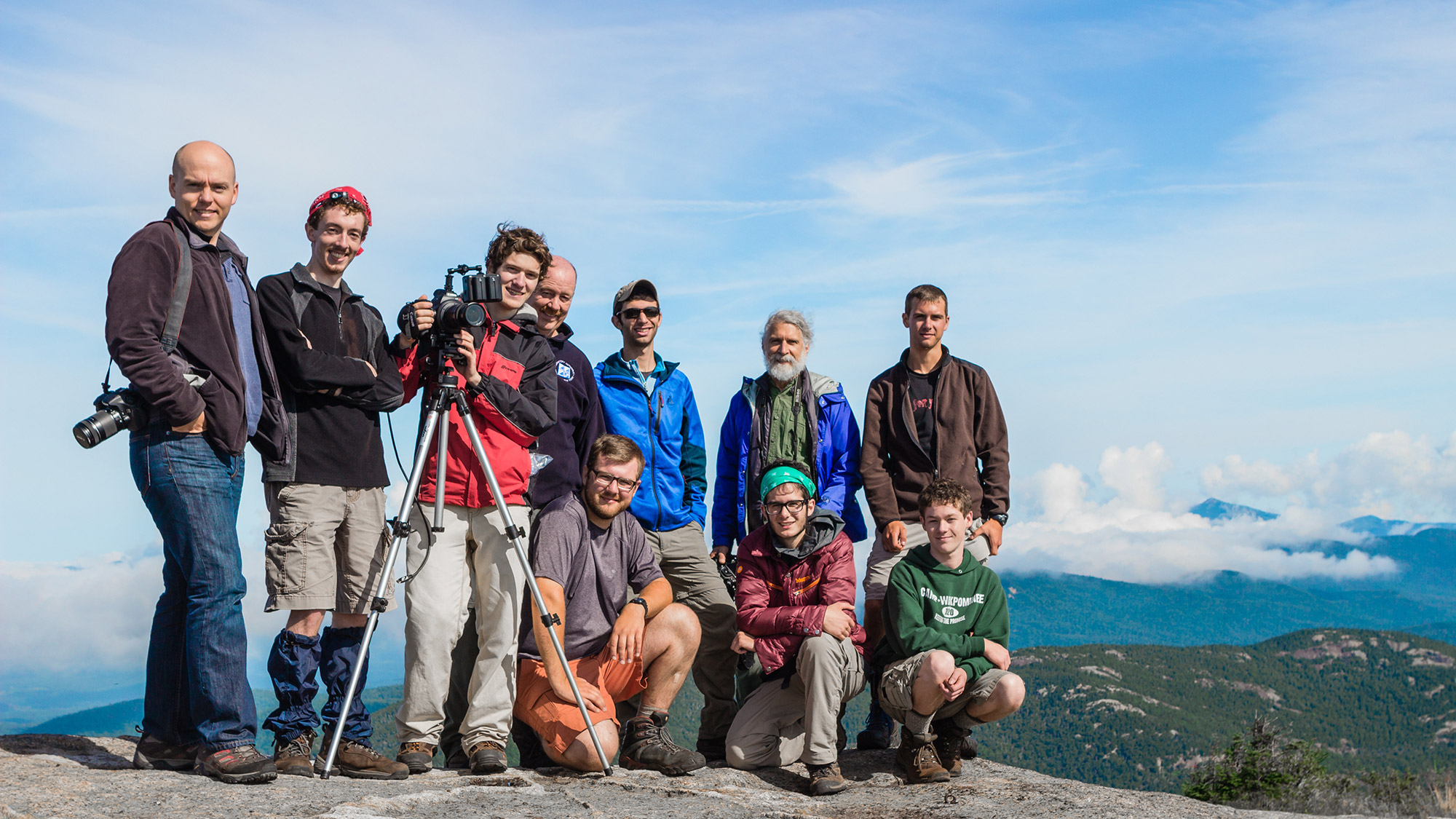 Blake with his crew and guests on Cascade Mountain. | Courtesy: Blake Cortright