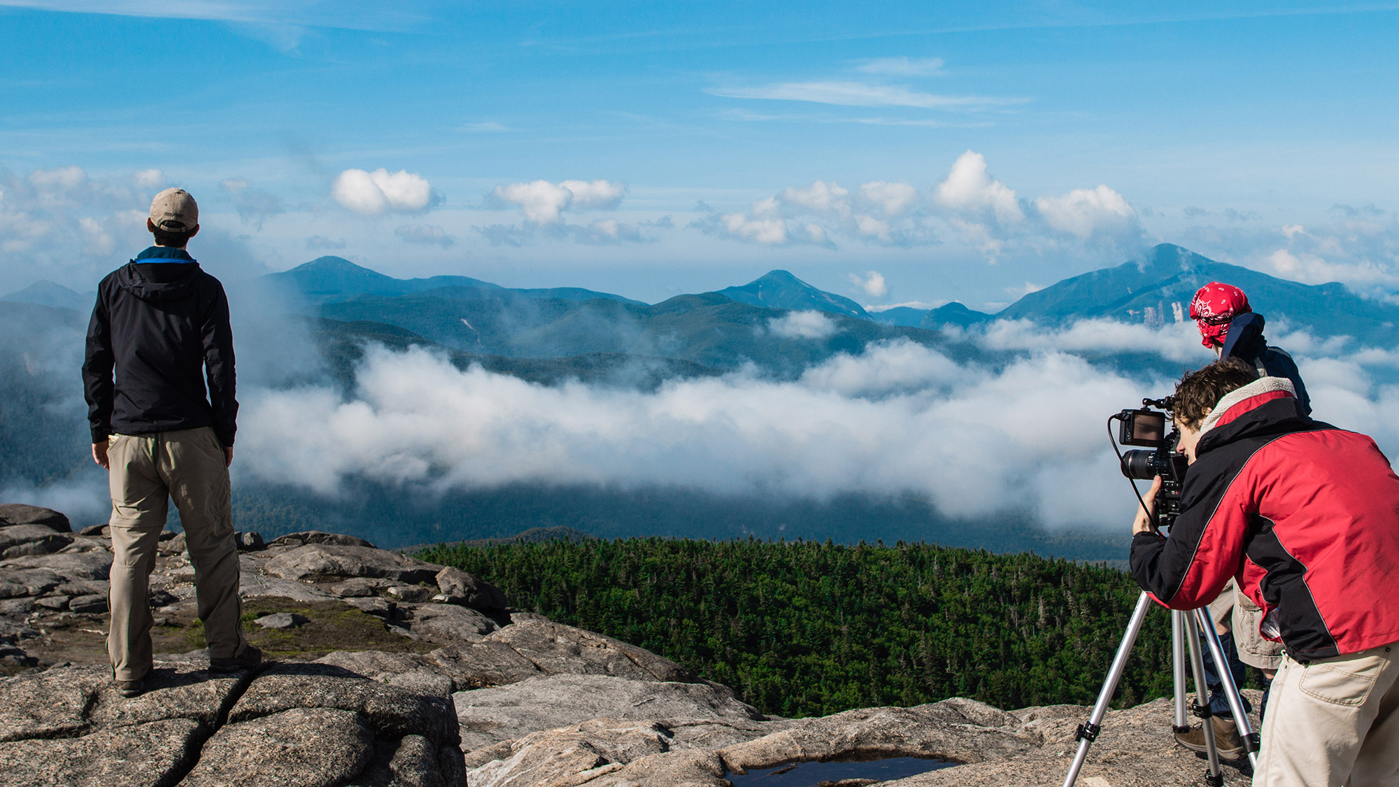Filming the remainder of the undercast on Cascade Mountain.   Courtesy: Blake Cortright