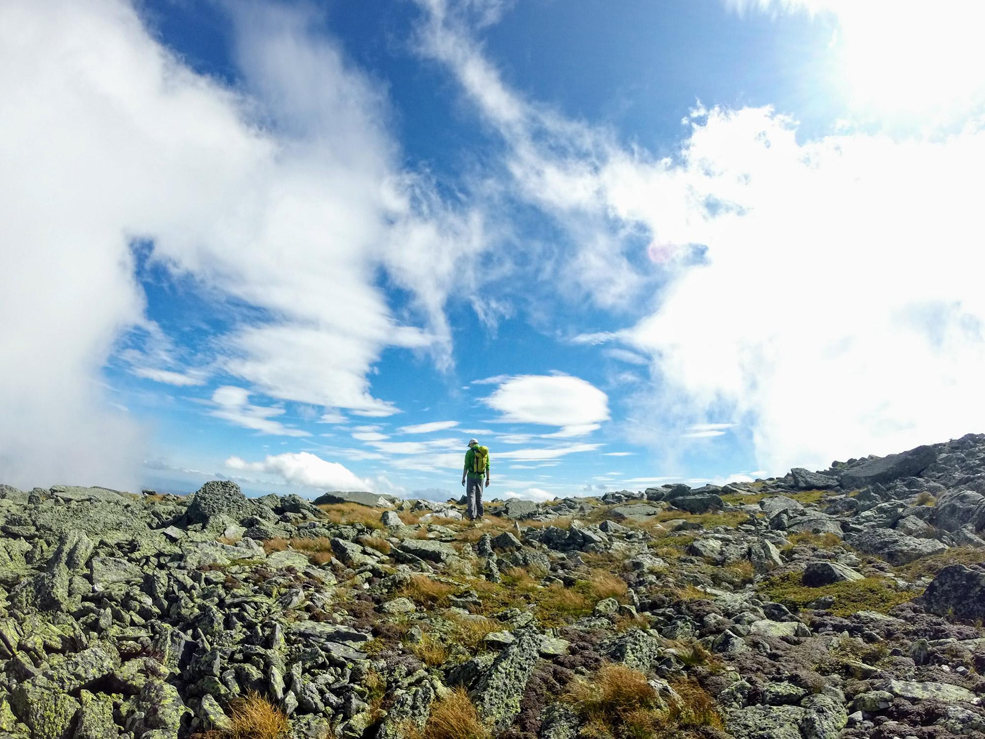Crossing the Alpine Garden. | Credit: Tim Peck