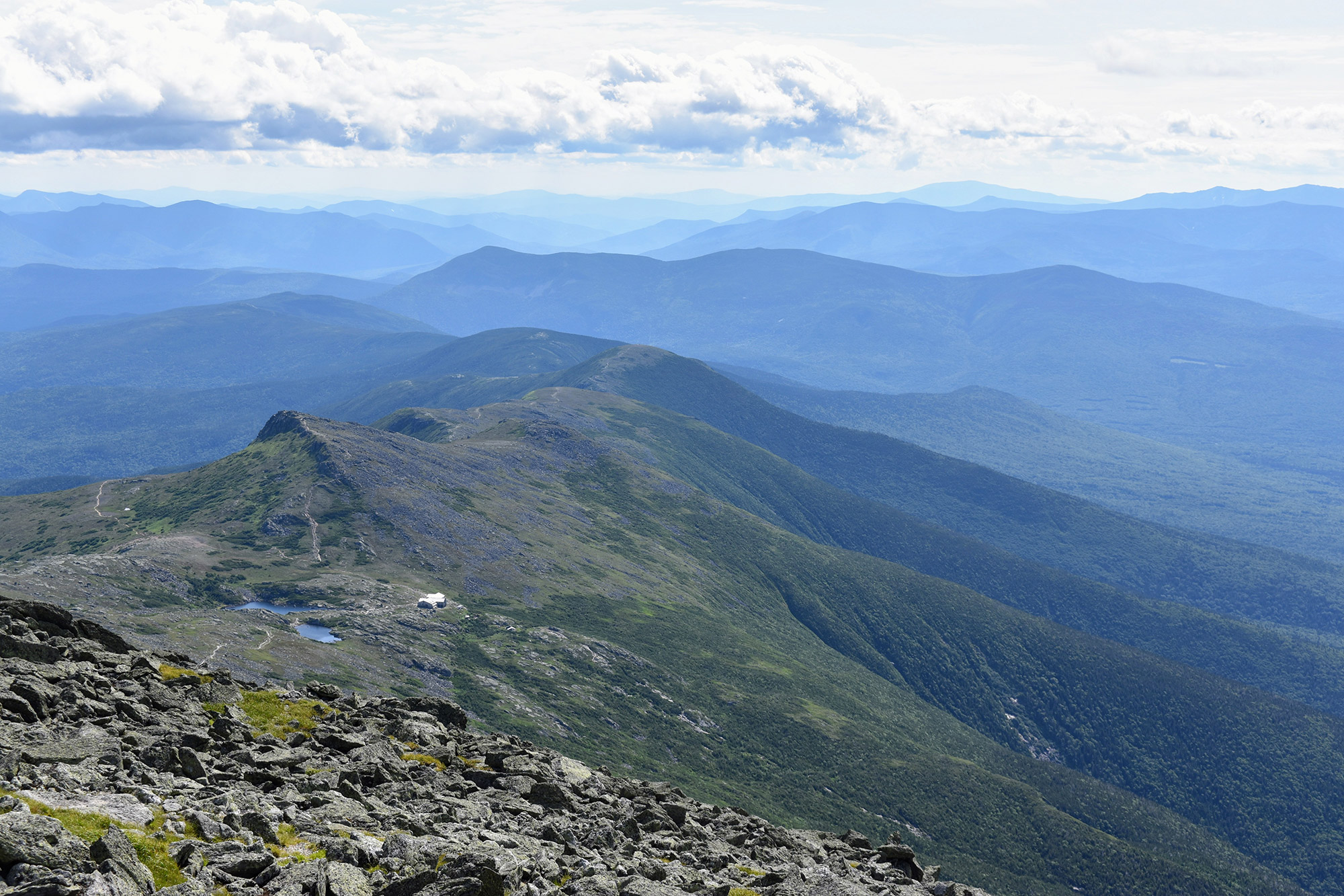 Lake of the Clouds and Mount Madison from Washington's summit cone. | Credit: Tim Peck