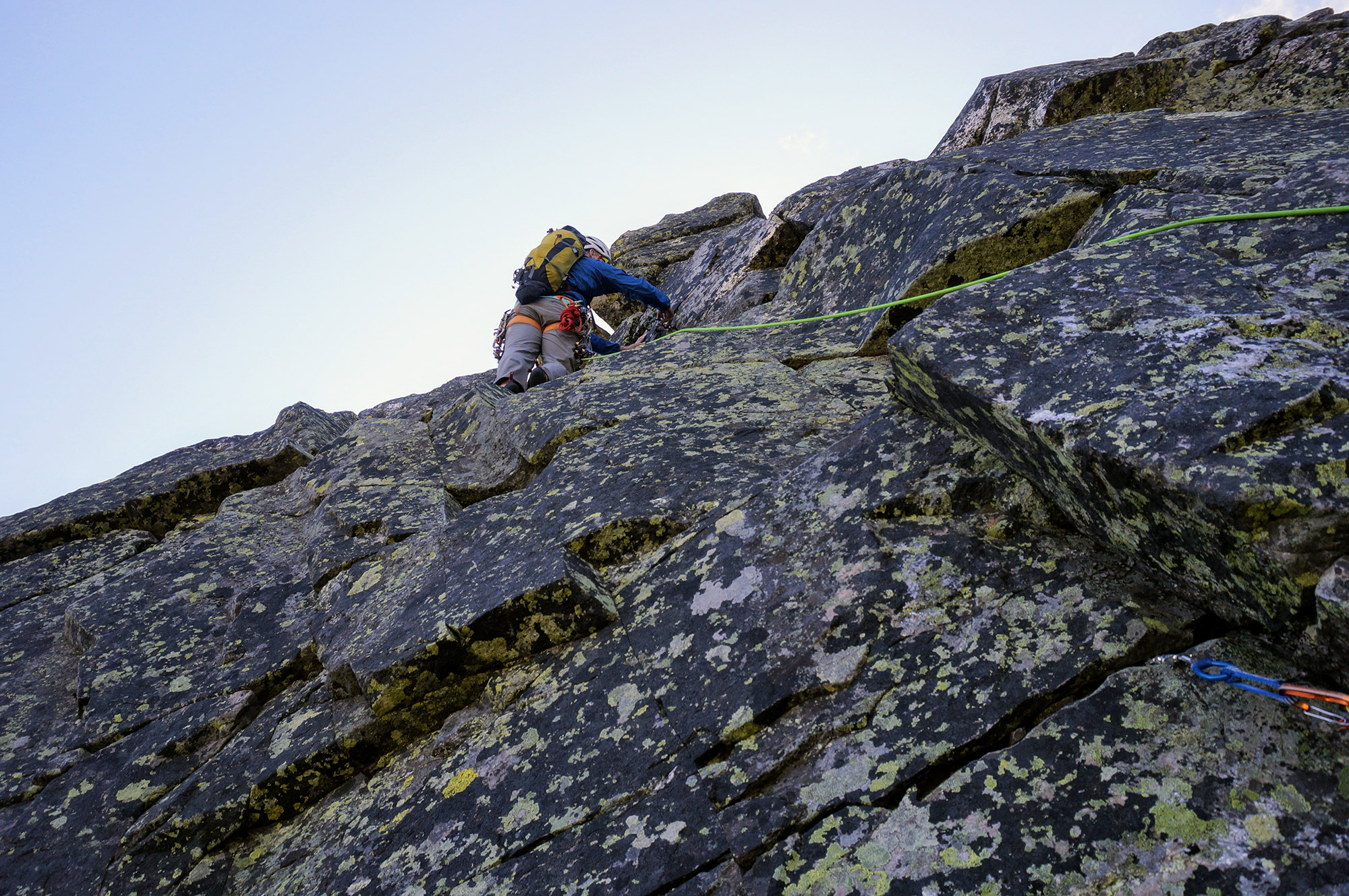 The final pitch before the top of the Pinnacle. | Credit: Tim Peck