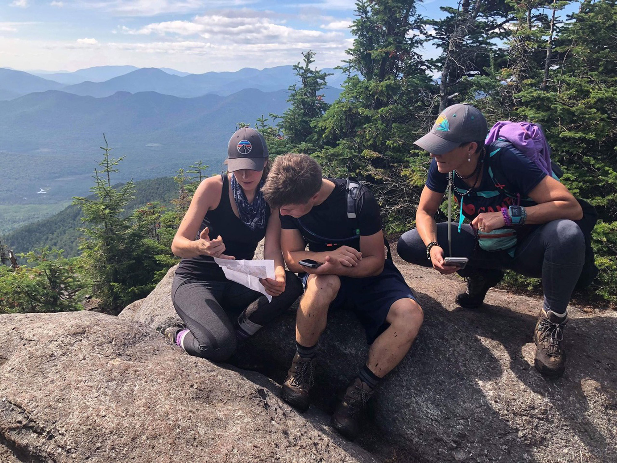 The author meeting other hikers on top of tk. | Courtesy: Allison Kozel