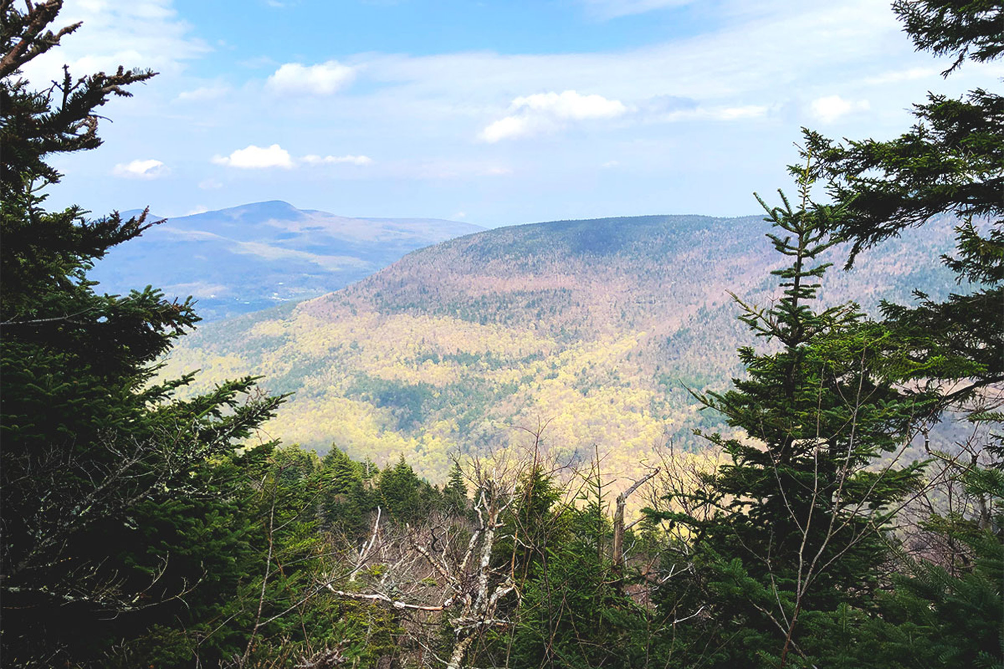 A view from an outlook just shy of Plateau Mountain's wooded summit. | Credit: John Lepak