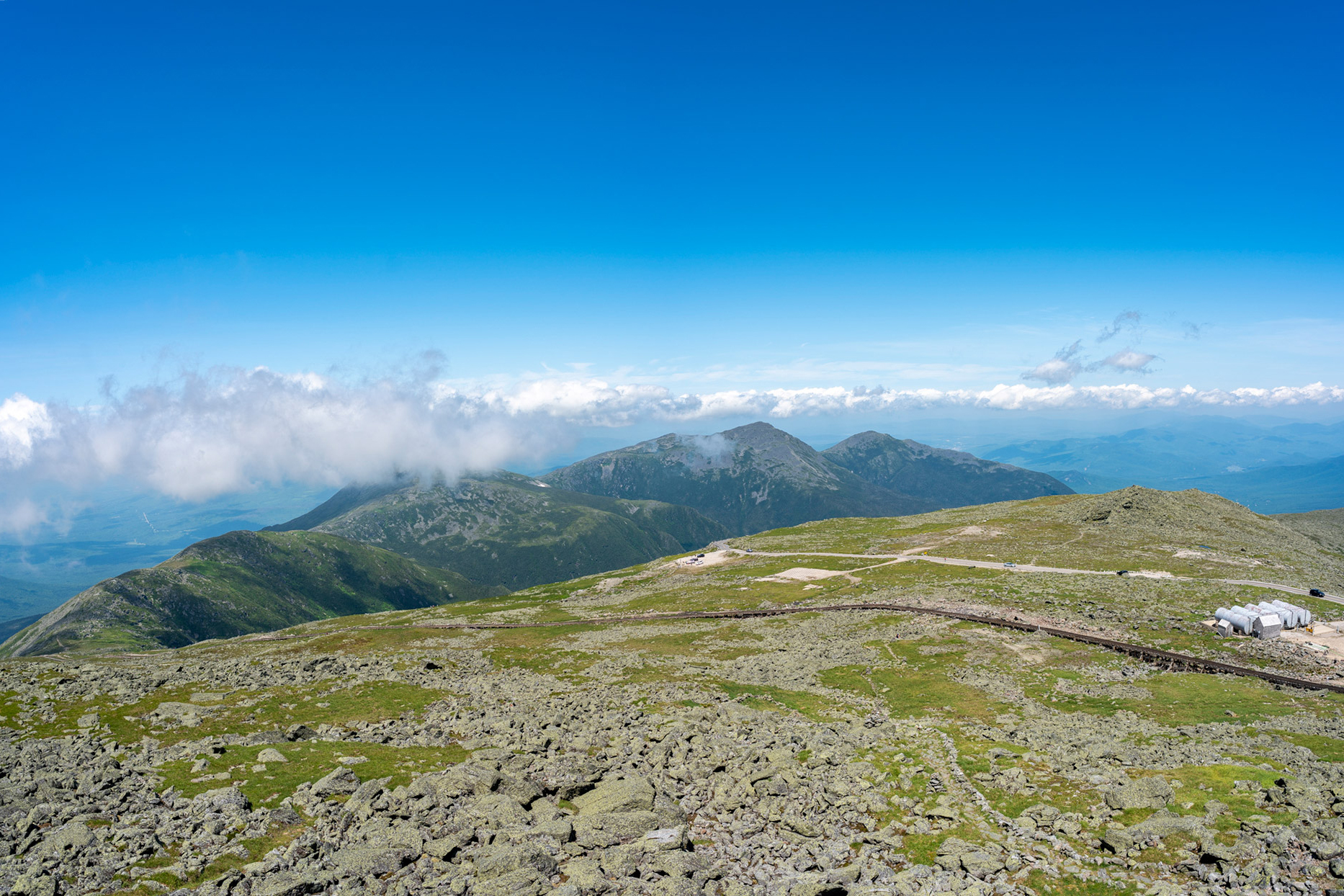 The Northern Presidentials from the summit. | Credit: Chris Shane