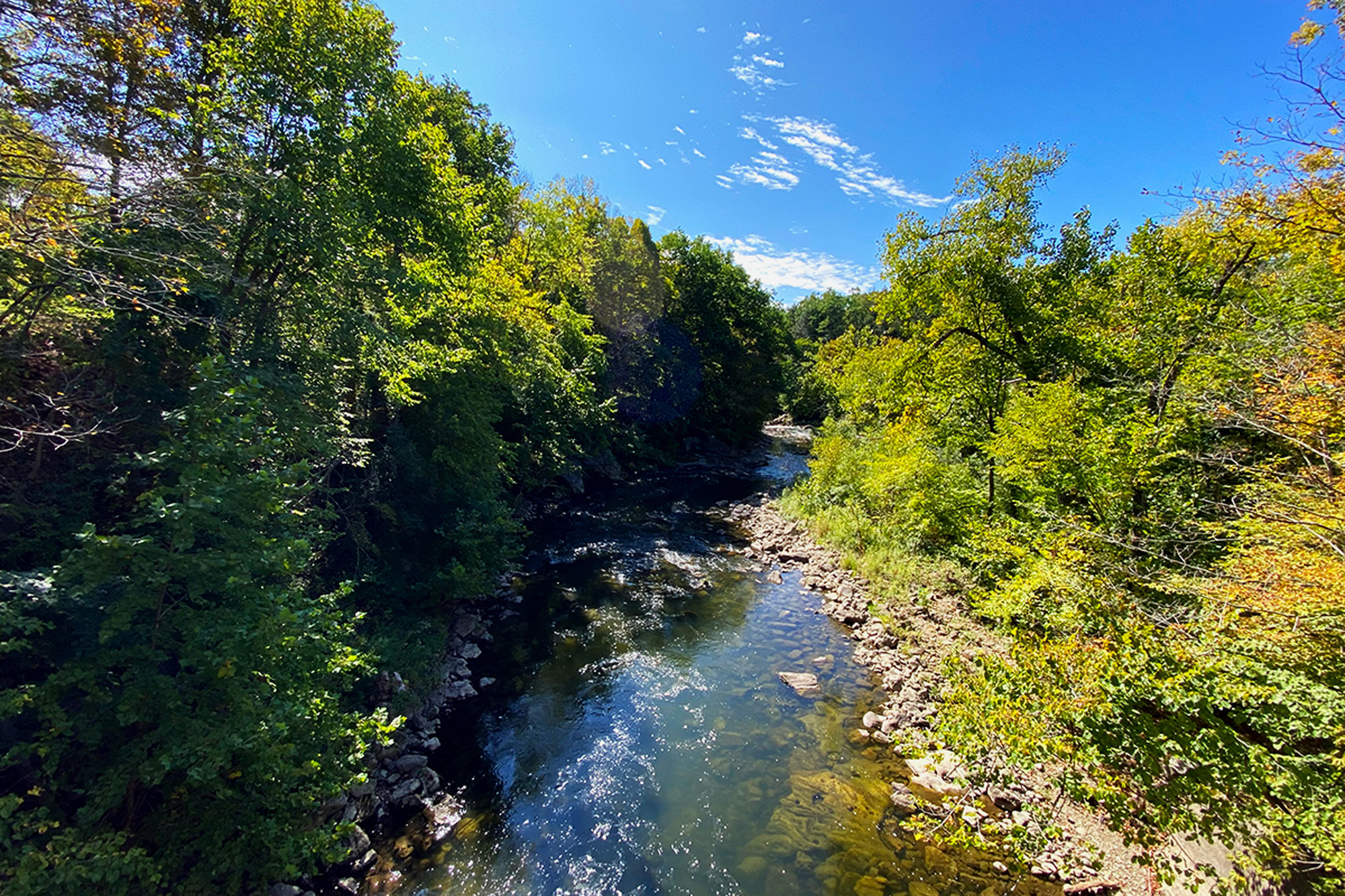 The Housatonic River, known for its quality fly fishing and kayaking, as seen from Bull's Bridge.   Credit: John Lepak